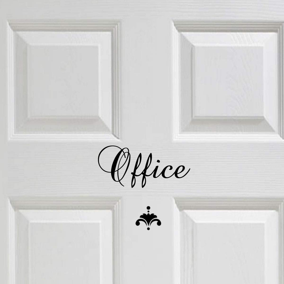 Black Office Door or Wall Decal Sign with Accent Vinyl Wall Decal