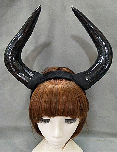 Handmade Halloween Costume Bulls Horns Headband Taurus Pointed Fight Minotaur Ox Horn Headpiece Cosplay (B) -