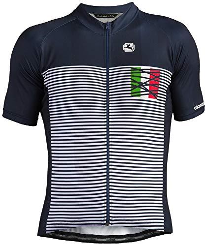 Giordana 2018 Men's Mare Italia Vero Pro Moda Short Sleeve Cycling Jersey - GICS18-SSJY-VERO-MITA (NAVY/WHITE/ITALIA - - Cycling Jersey Italia