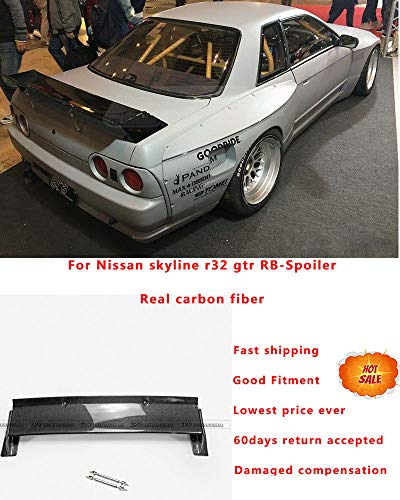 FidgetGear for Nissan Skyline R32 GTR Carbon Fiber RB-Style Rear Trunk Spoiler Wing Lip Kit ()