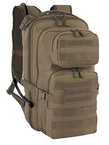 Fieldline Tactical Surge Hydration Pack with 2-Liter Reservoir, 22.2-Liter Storage, Coyote