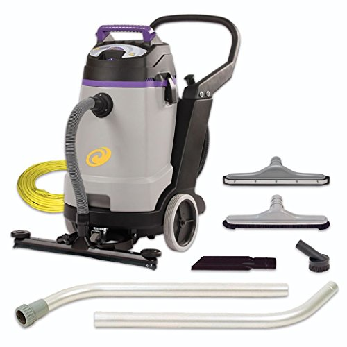 ProTeam Wet Dry Vacuums, ProGuard 15, 15-Gallon Commercial Wet Dry Vacuum Cleaner with Tool Kit and Front Mount Squeegee ()