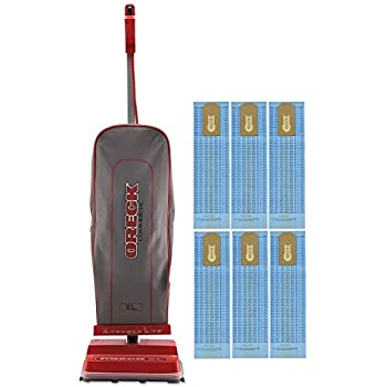 Oreck Commercial U2000RB-1 Commercial 8 Pound Upright Vacuum with EnduroLife V-Belt, 40' Power Cord With Genuine 6 Oreck Bags Bundle