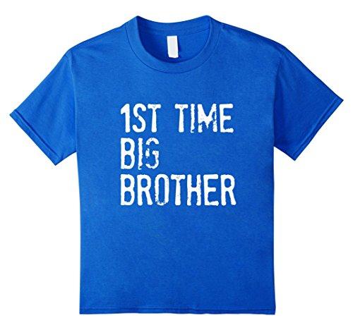 Kids 1St Time Big Brother t-shirt 10 Royal Blue (Youth Big Time T-shirt)