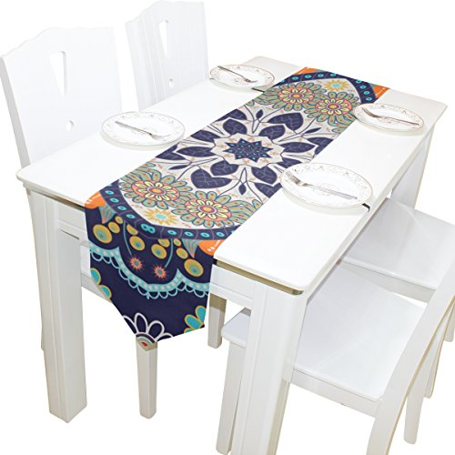 ABLINK Dark Pattern 100% polyester characteristic print double-sided Table Runners -