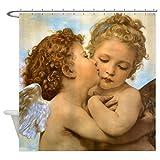 CafePress - First Kiss By Bouguereau - Decorative Fabric Shower Curtain