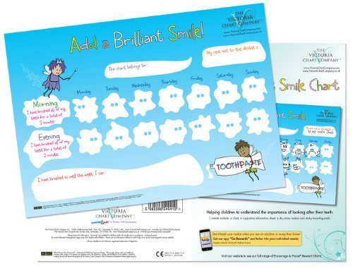 Add a Brilliant Smile - Tooth Brushing Reward Chart encouraging