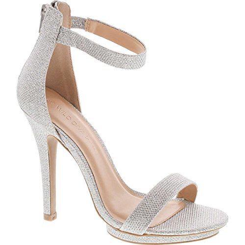 Pictures of Wild Diva Womens Open Toe Ankle Strap Champagne 1