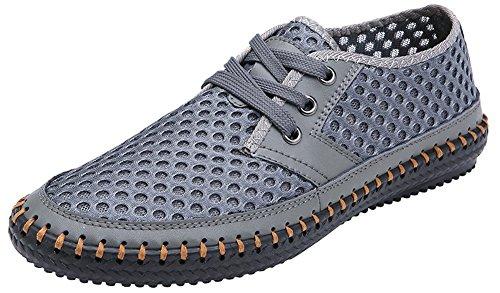 XIN BARLEY Männer Poseidon Slip-On Loafers Wasser Schuhe Casual Wanderschuhe Grau