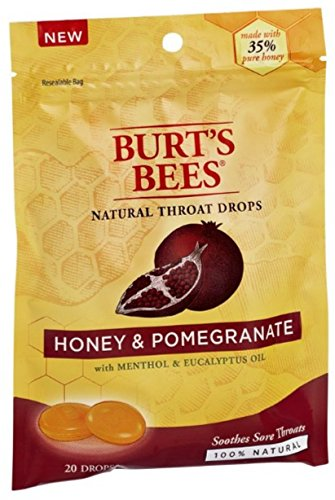 Burts Throat Drops Hny/Pm Size 20ct Burts Throat Drops Honey Pomegranate 20ct by Burt's Bees