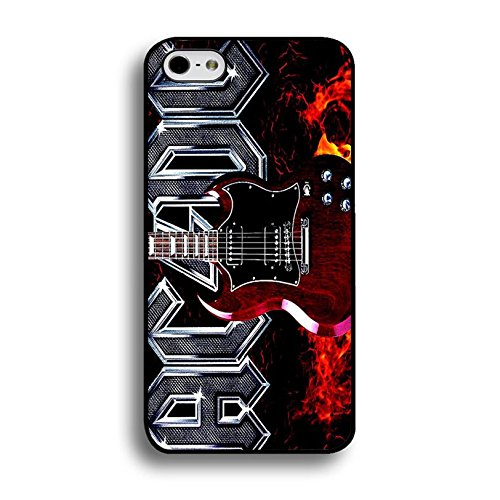 Iphone 6 / 6s ( 4.7 Inch ) ACDC Band Cover Shell Magic Creative Guitar With Fire Hard Music Rock Band Designed AC/DC Phone Case Cover for Iphone 6 / 6s ( 4.7 Inch )