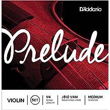D'Addario Prelude Violin String Set, 1/4 Scale, Medium Tension