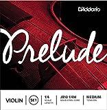 D\'Addario Prelude Violin String Set, 1/4 Scale, Medium Tension