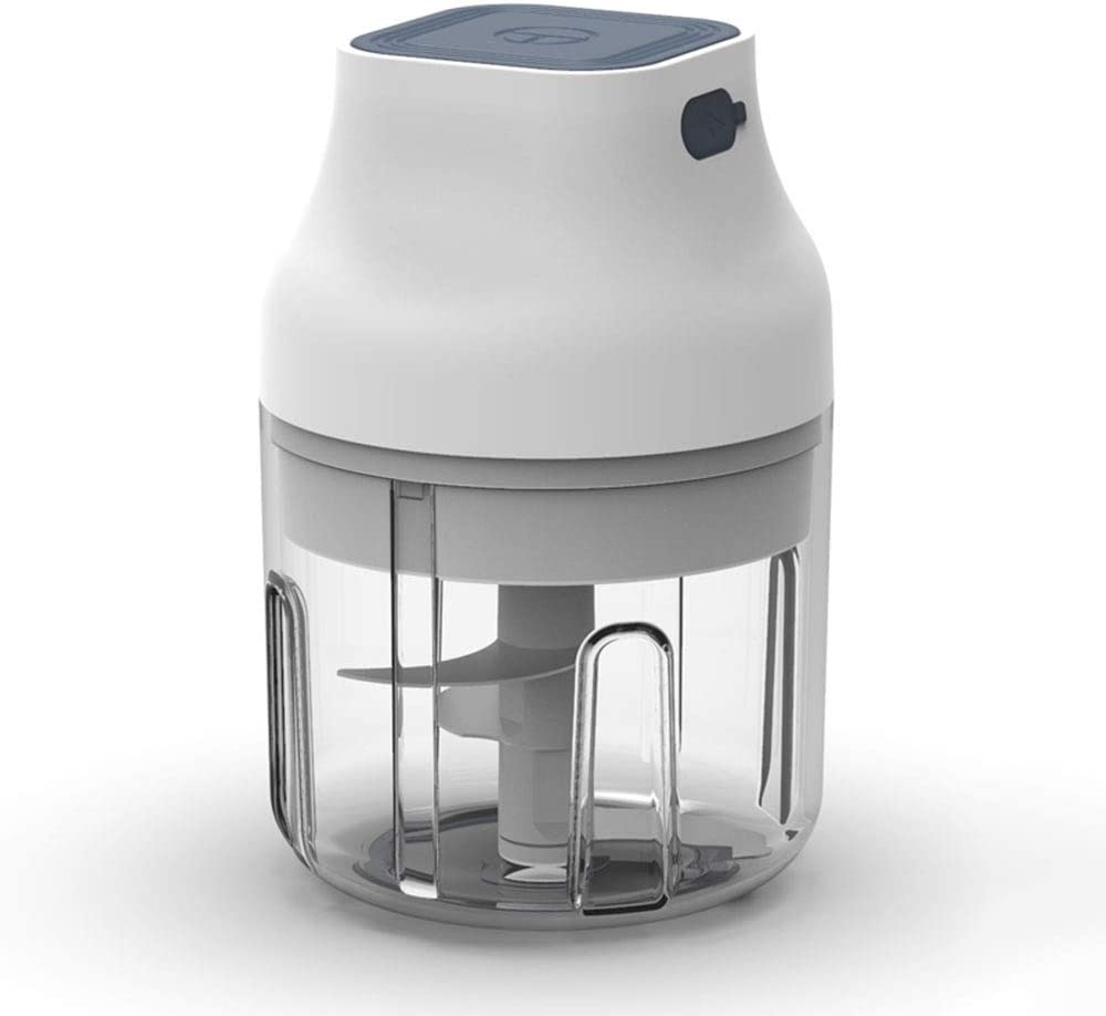 Pinky Max Electric Garlic Chopper, White Cordless Mini Food Chopper Electric/Palm-sized Blender to Chop Fruits/Vegetables/Garlic/Onion for Salsa/Salad/Pesto/Coleslaw for Kitchen Gadgets (250ML)