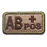 ab positive patch - Tactical Blood Type Patches Swat Military Tape Army Morale Badge - Type AB Positive