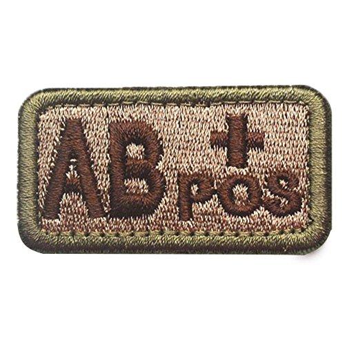 GGG una B o AB POS + Sangre tipo SWAT Militar Táctica parche Moral del Ejército de cinta insignia: Amazon.es: Hogar