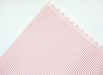 Melody Jane Dolls House Pink on White Balmoral Miniature Print 1:12 Scale Wallpaper