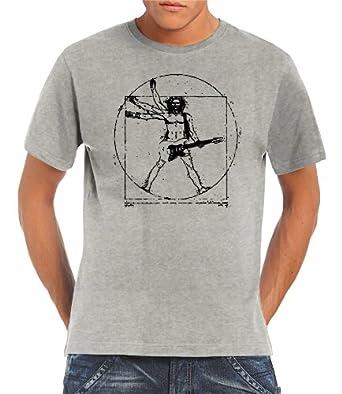 Touchlines Herren T-Shirt Da Vinci Rock Guitar B210513TS-Black-M