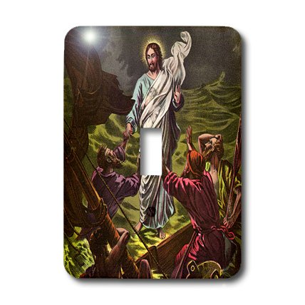 3dRose LSP_42959_1 Jesus Walks on Water Toggle Switch