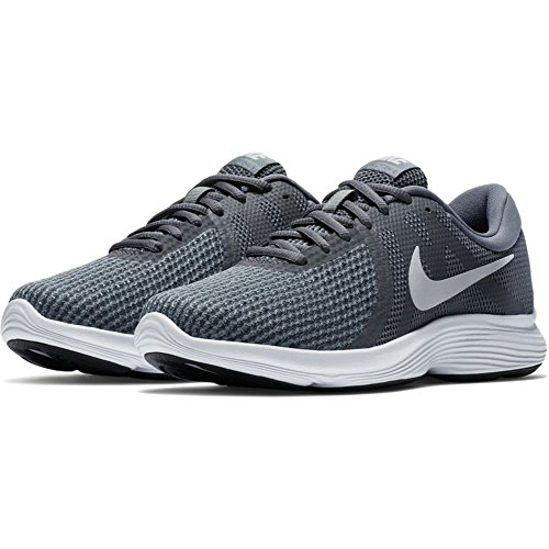 Zapatillas De Running Nike Mujeres Revolution 4 Gris Oscuro Pure Platinum Cool Grey White