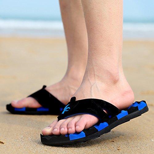 Xing Lin Sandalias De Hombre Nuevo Verano Flip-Flops Hombre De Chanclas De Playa Playa Zapatillas Zapatos Antideslizantes Avispa Sandalias Y Zapatillas Para Hombres Marea Azul Oscuro 45