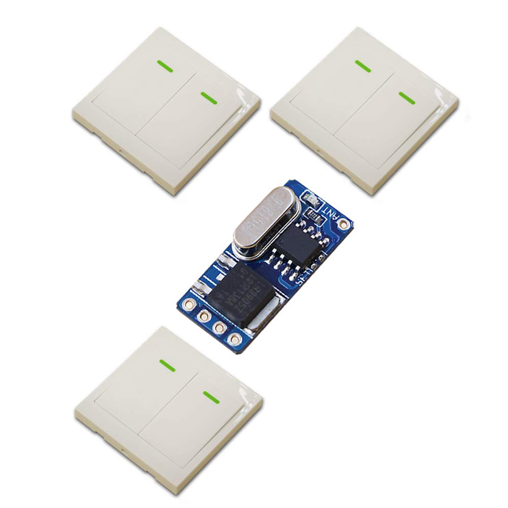 433MHZ New DC3.7V 4.5V 5V 6V 9V 12V Mini Receiver Micro Ultrathin Remote Control Switch +3 Transmitter Learning Code for Smart Home  (color  433MHZ)