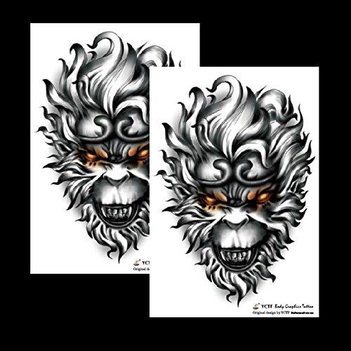 Oottati 2018 Waterproof Sun Wukong Temporary Tattoo Sticker (2 Sheets) TF276