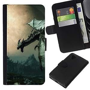 All Phone Most Case / Oferta Especial Cáscara Funda de cuero Monedero Cubierta de proteccion Caso / Wallet Case for LG Nexus 5 D820 D821 // Ancient Flying Dragon
