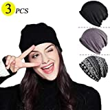 Chemo Caps for Women Baggy Slouchy Chemo Scarf Hat Beanie Skull Cap 3