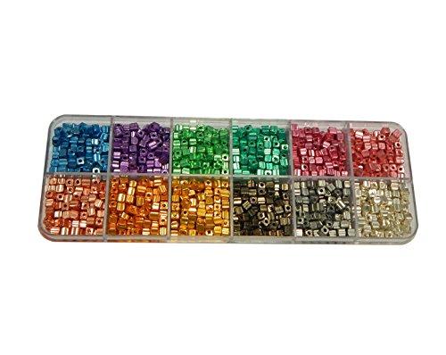 200g. Preciosa Ornela Rocailles Perlen 3mm Größe 6 Würfel Glänzende ...