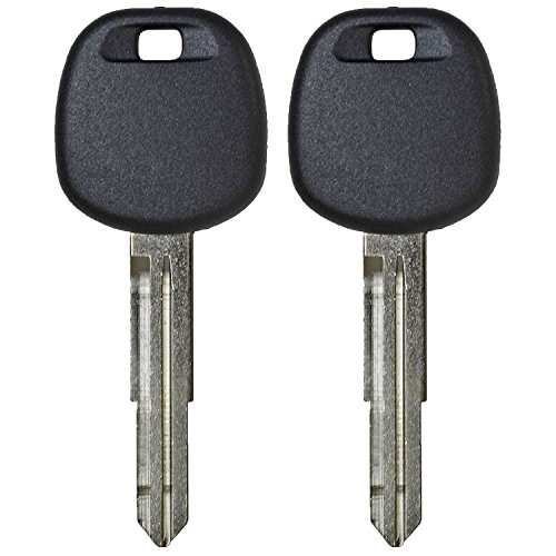 - qualitykeylessplus Two Replacement Transponder Chip Keys TOY57PT for Toyota Vehicles with Free KEYTAG