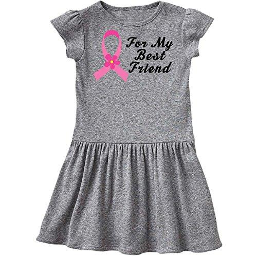 inktastic - Pink Ribbon for Best Friend Infant Dress 18 Months Heather Grey de01