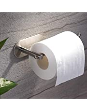 ZUNTO Porte-rouleau de Papier Toilette Sans Support de Papier Auto-adh¨¦sif de Forage Titulaire de Papier Hygi¨¦nique en Acier Inoxydable