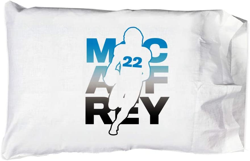 Hat Shark Pillow Case Single Pillowcase - Football Sports Athletic Player (McCaffrey #22)