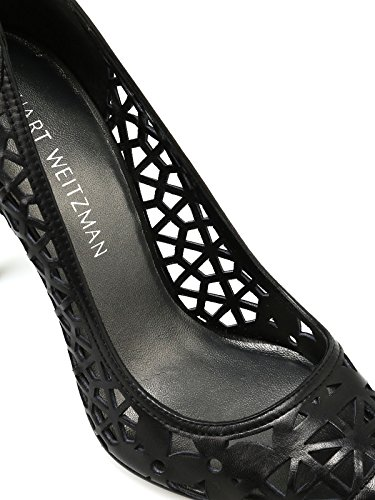 Stuart Black Weitzman Women's Pumps Leather Cutoptownblack Faux t0T8qnFx0