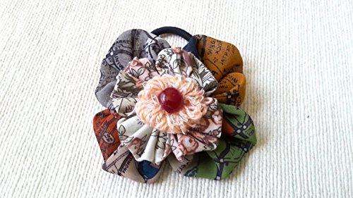 Ponytail hair bow, flower hair tie