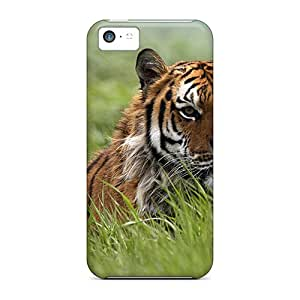 Tpu Case Cover For Iphone 5c Strong Protect Case - Tiger Design
