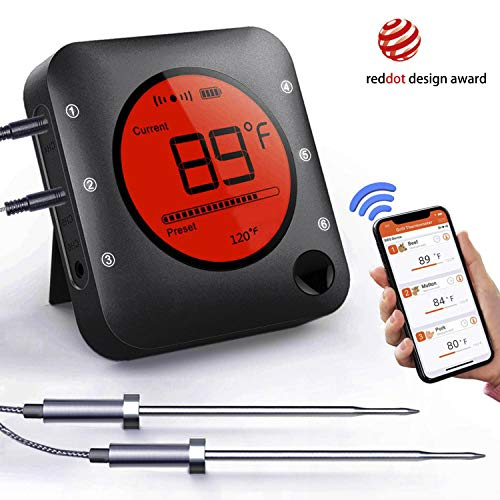 Bluetooth Thermometer Wireless Barbecue Stainless