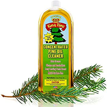 King Pine Concentrated Pine Oil, Multi-Surface Cleaner, Industrial Strength, Gold, 32 fl oz