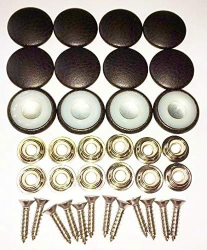 Espresso Upholstery - Set Of 12 Dura Snap Upholstery Buttons Dark Espresso Vinyl (#30-3/4