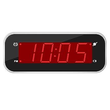 Timegyro Reloj Despertador Digital batería y Ajuste Sencillo para Dormitorio/Sala de Estar/Viaje (Blanco): Amazon.es: Hogar