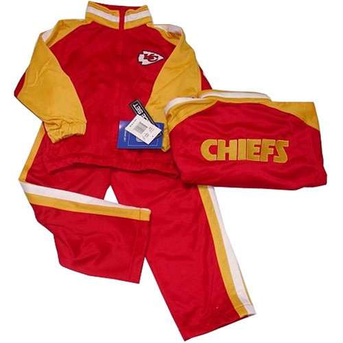 Kansas City Chiefs NFL Kids/Child Embroidered Jogging Suit Set (Size 5-6) By Reebok ()