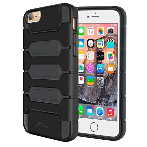 iPhone 6s Plus Case, rooCASE [Shock Resistant] iPhone 6 Plus Tough Hybrid PC/TPU [XENO Armor] Case Cover for Apple iPhone 6 Plus / 6s Plus (2015), Black