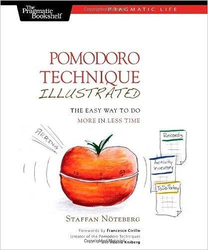 Pomodoro Technique Illustrated (Pragmatic Life) by Staffan Noteberg (2010-01-07)