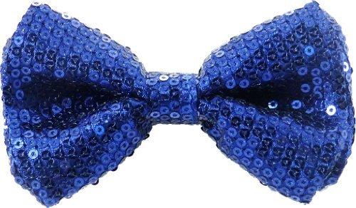 AJ Accessories Men's Blue Sequined Classic Adjustable Pre-Tied Bow Tie