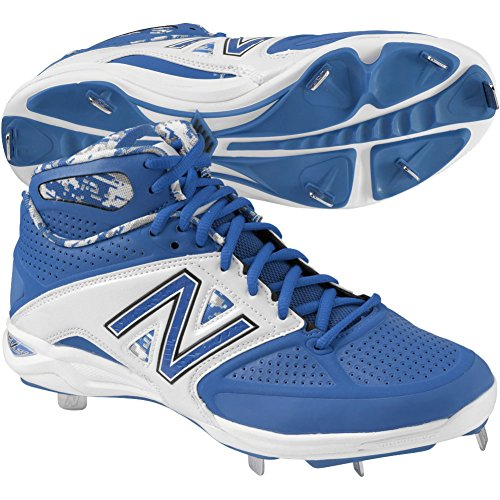 New Balance Mens 4040V2 Mid Metal Baseball Cleats Blue/White brH2whdTis