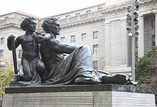 """Washington, D.C. Photo - Sculpture""""The Voice of Reason, Oscar S. Straus Memorial Fountain,"""" by Adolph Alexander Weinman at the Environmental Protection Agency, Ronald Reagan Building from Historic Pictoric"""