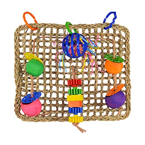 Super Bird SB746 Seagrass Foraging Wall Bird Toy with Colorful Fun Gears, Large Size, 4 x 14 x 14