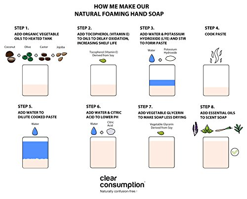 Clear Consumption Natural Lavender Foaming Hand Soap Refill 1/2 Gallon (64 oz) - Made from USDA Organic Vegetable Oils - For Commercial & Personal Foaming Soap Dispensers by Clear Consumption (Image #3)