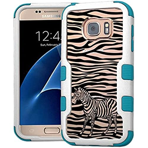 Galaxy S7 Case Zebra, Extra Shock-Absorb Clear back panel + Engineered TPU bumper 3 layer protection for Samsung Sales